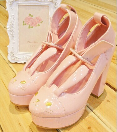 Japanese-Harajuku-animal-rabbit-party-pumps-with-stereo-ears-autumn-winter-High-heeled-Shoes