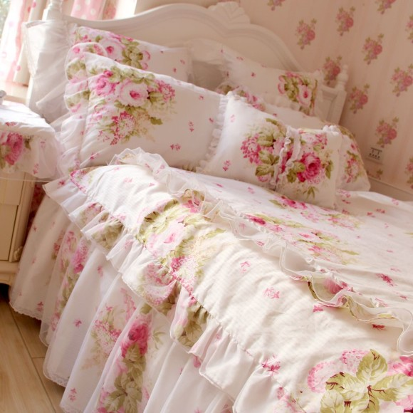 S-V-Luxury-Korean-floral-bedding-sets-pink-bedclothes-3d-designer-bed-linen-lace-duvet-covers