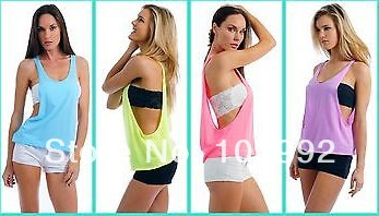 WOMEN-S-SEXY-DRAPE-TANK-TOP-WITH-OPEN-SIDES-NEON-COLORS-PLAIN-SHIRT-COTTON