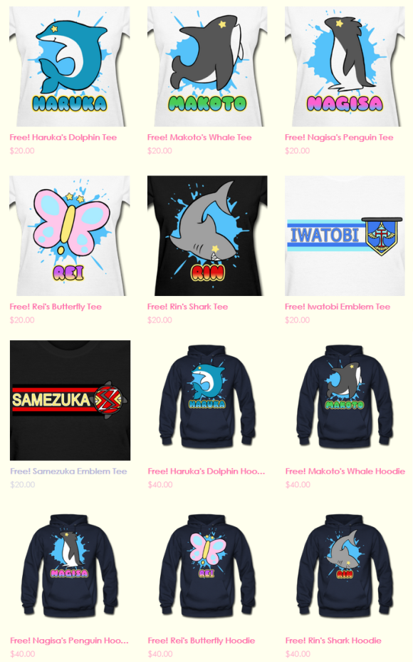 Free! shirts