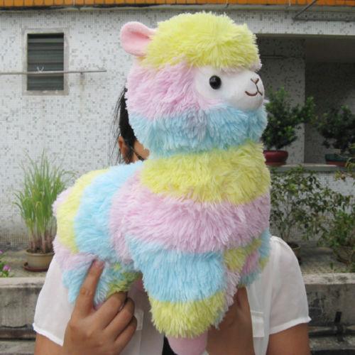 Giant Pastel Rainbow Alpaca