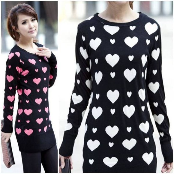 o-neck-heart-print-casual-full-sleeve-outwear-women-slim-knitting-sweater-dress-pullovers-autumn-new