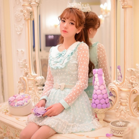 Princess-sweet-lolita-blouse-Candy-rain-Sweet-princess-patchwork-flowers-lace-chiffon-blouse-W19