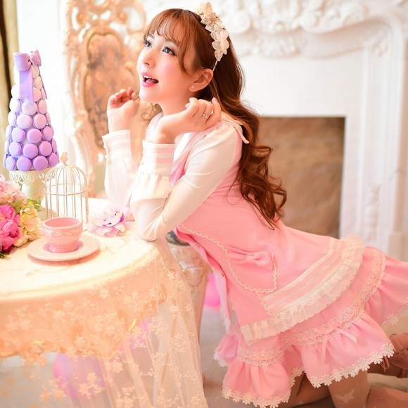 Princess-sweet-lolita-skirt-Candy-rain-new-Spring-Japanese-style-princess-cute-lace-ball-gown-pink