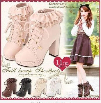 2014-Size-34-39-Women-Sweet-Ruffles-Lace-Up-Lolita-High-Heel-Ankle-Boots-Student-Party