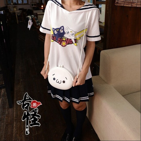 Cutie-soft-sister-sailor-moon-t-shirt-uniform-for-girls-navy-white-novelty-anime-sailor-collar