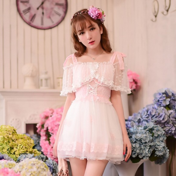 Princess-sweet-lolita-dress-Candy-rain-cute-Japanese-style-princess-Summer-new-Condole-belt-Dew-shoulder
