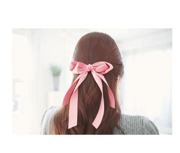 narrow ribbon hair bow barratte