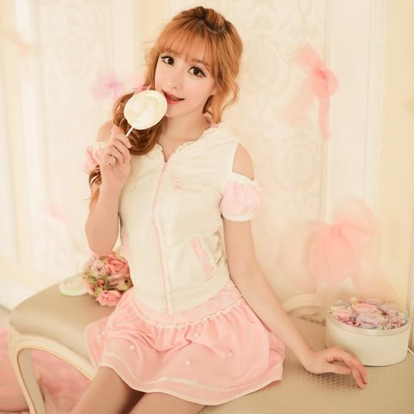 Candy-rain-Princess-sweet-lolita-skirts-summer-Japanese-style-Sweet-lace-Nail-bead-Leisure-sports