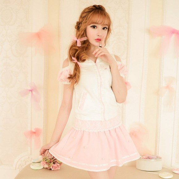 Candy-rain-Princess-sweet-lolita-skirts-summer-Japanese-style-Sweet-lace-Nail-bead-Leisure-sports-skirts