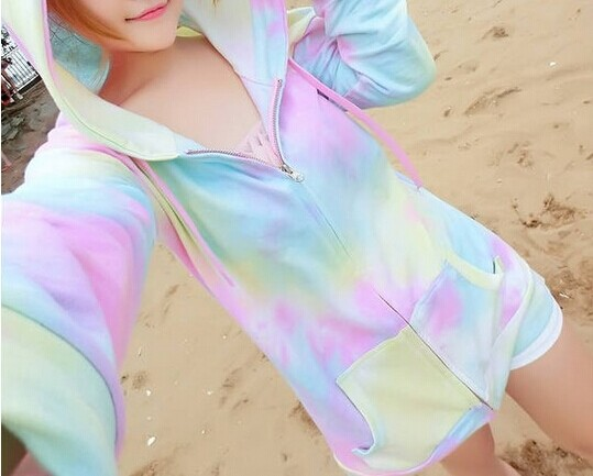 Japanese-Harajuku-Zipper-sweatshirts-girls-with-cape-cute-jfashion-starry-sky-hoodies