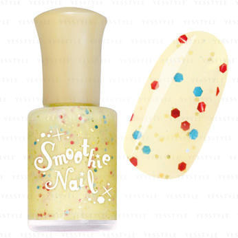 smoothie nail yellow sprinkles
