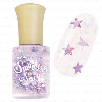 smoothie nail purple stars