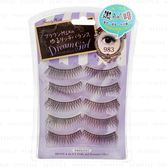 brown and black criss cross crystal lashes