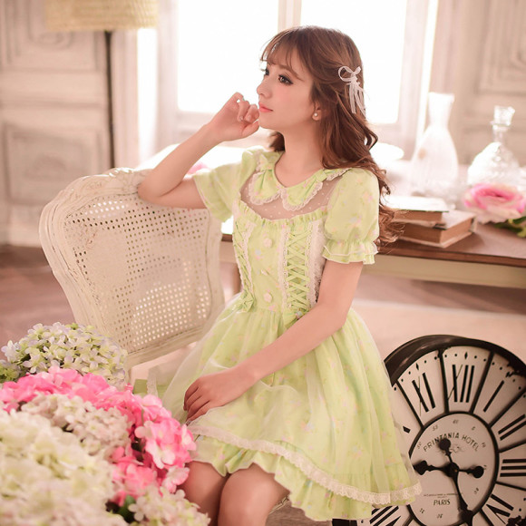 Princess-sweet-lolita-dress-Candy-rain-Japanese-style-Summer-Pure-and-fresh-sweet-bow-bind-floral
