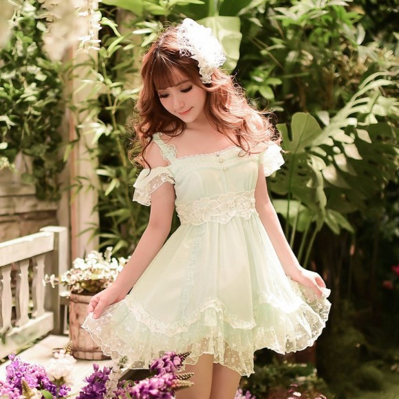Princess-sweet-lolita-dress-Candy-rain-Summer-Japanese-style-sweet-Pure-and-fresh-Condole-belt-chiffon
