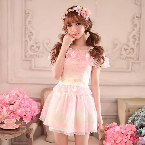 Princess-sweet-lolita-skirt-Candy-rain-Japanese-style-summer-rainbow-printing-organza-ball-gown-skirt-WL119