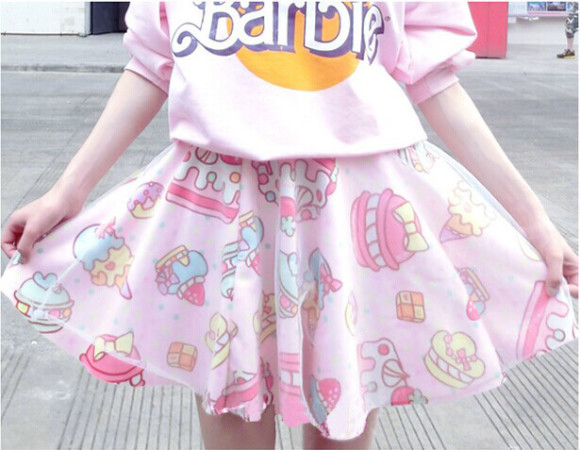 Soft-sister-lolita-short-skirts-womens-Japan-fashion-cake-strawberry-cute-high-waist-girls-gauze-skirt