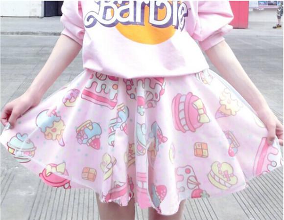 Soft-sister-lolita-short-skirts-womens-Japan-fashion-cake-strawberry-cute-high-waist-girls-gauze-skirt