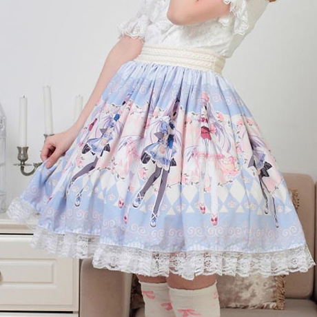 Super-Cute-Japanese-cartoon-characters-Printed-Skirt-Lolita-Princess-Sweet-Hot-sale-Japanese-Pleated-Women-Summer