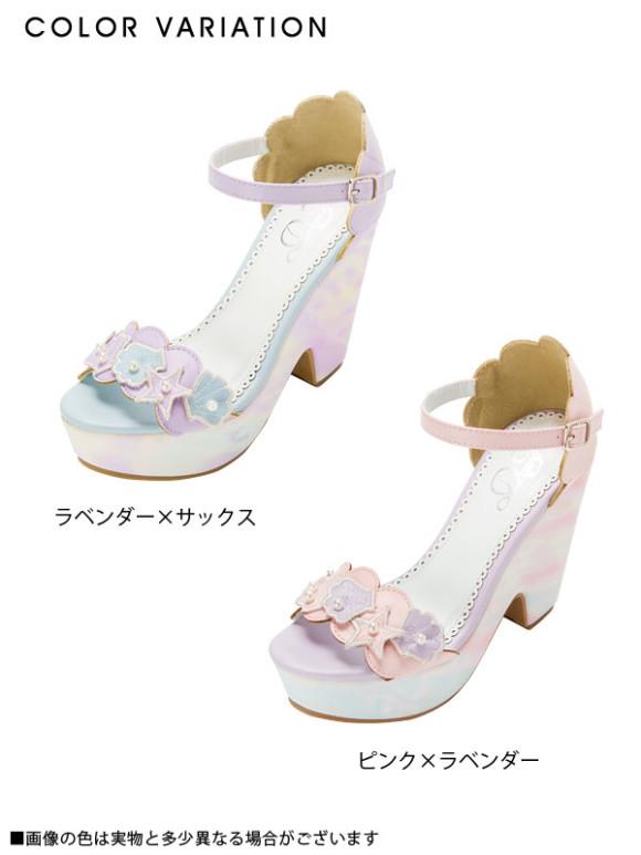 pastel mermaid shoes