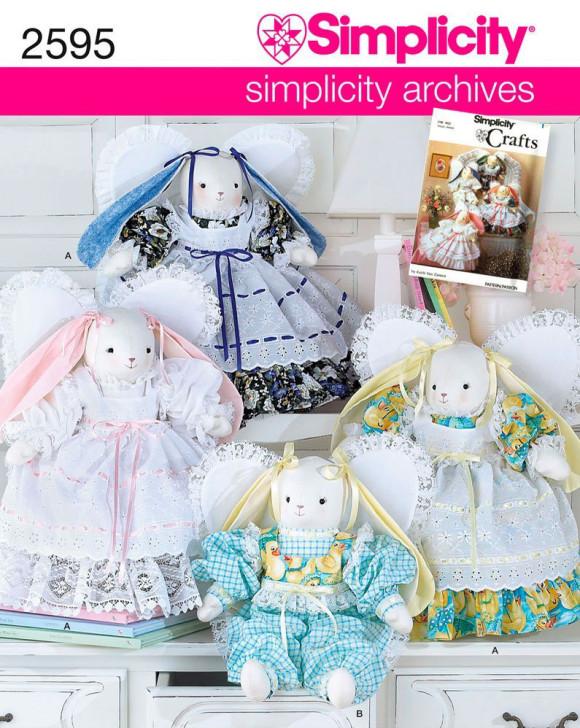 simplicity 2595 vintage bunny angel