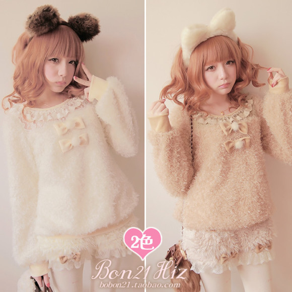Crescendos-bobon21-lace-hair-ball-patchwork-sheep-sweater-t0945