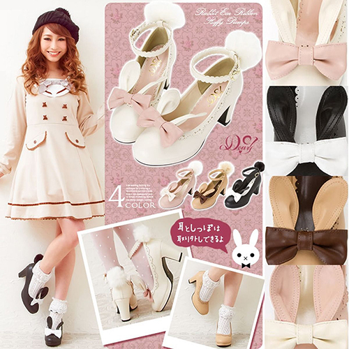 Janpaese-Women-s-Cute-LOLITA-Rabbit-Ears-Bunny-Fur-Ball-Pendant-Tail-Shoes-Princess-High-Heels
