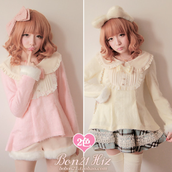 Princess-sweet-lolita-sweater-Moben-bobon21-low-high-flowers-rabbit-fur-cashmere-cute-shirt-t0960