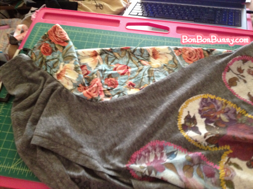 easy tshirt diy slouchy sleeve to repair stains (14)