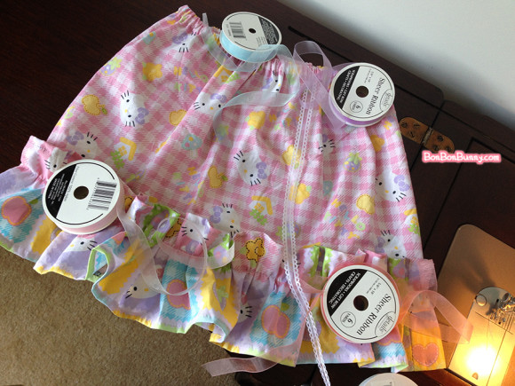 hello kitty fairy kei skirt sewing tutorial (22)