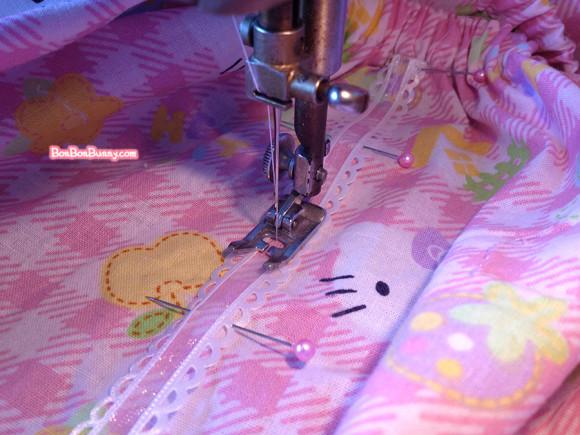 hello kitty fairy kei skirt sewing tutorial (23)