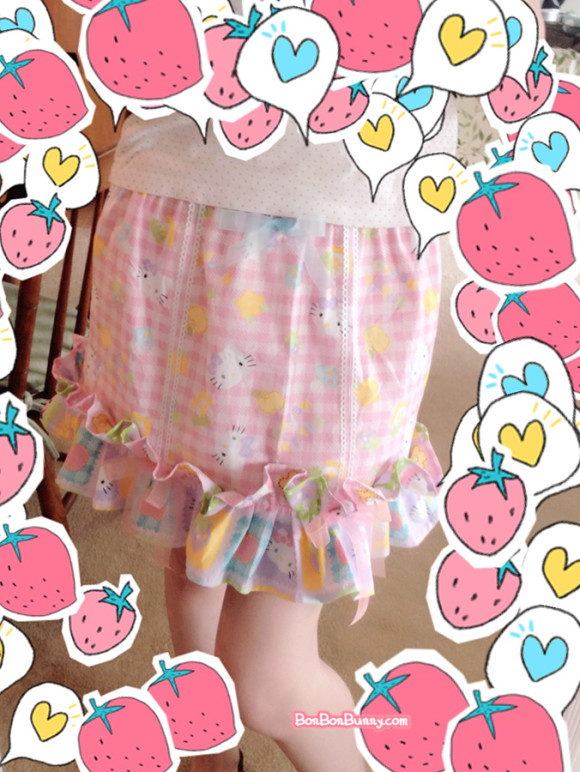 hello kitty fairy kei skirt sewing tutorial (26)