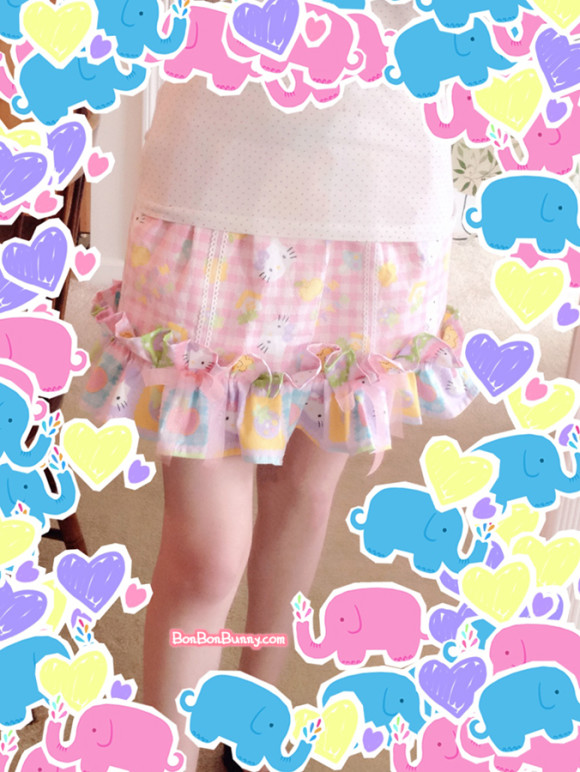 hello kitty fairy kei skirt sewing tutorial (27)