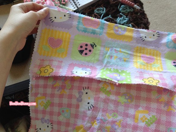 hello kitty fairy kei skirt sewing tutorial (6)