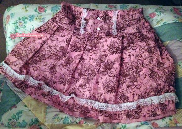 Himekaji Pink Bunny Toile Skirt (5)