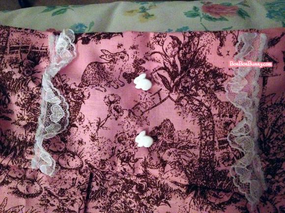 Himekaji Pink Bunny Toile Skirt (6)