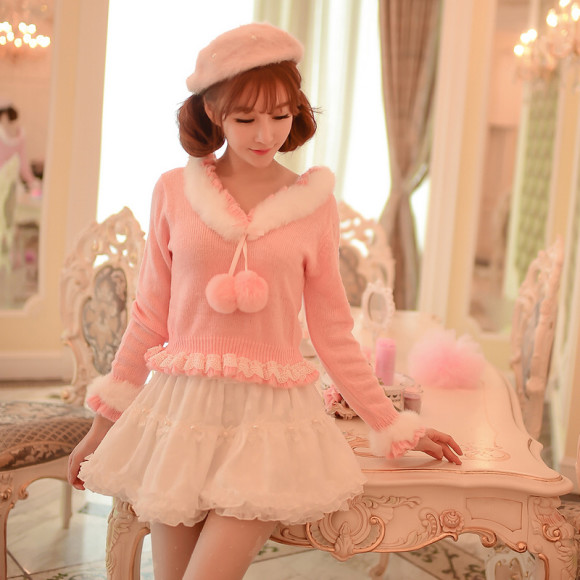 Pretty Pink Sweaters for Princesses! (4)