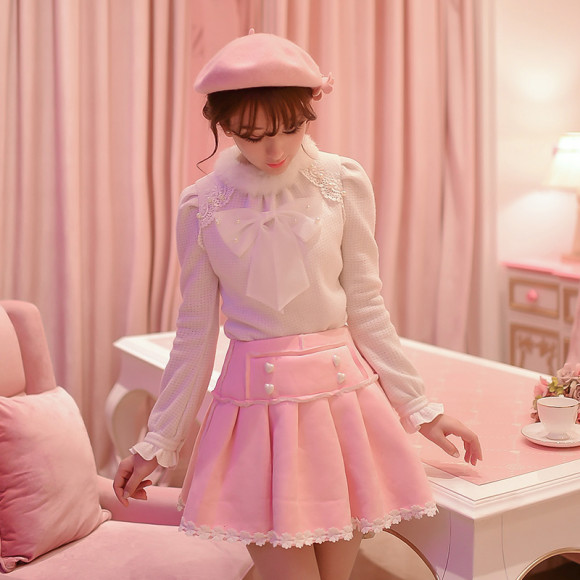 Warm Winter Skirts & Sweaters for Pretty Pink Princess Gals (5)