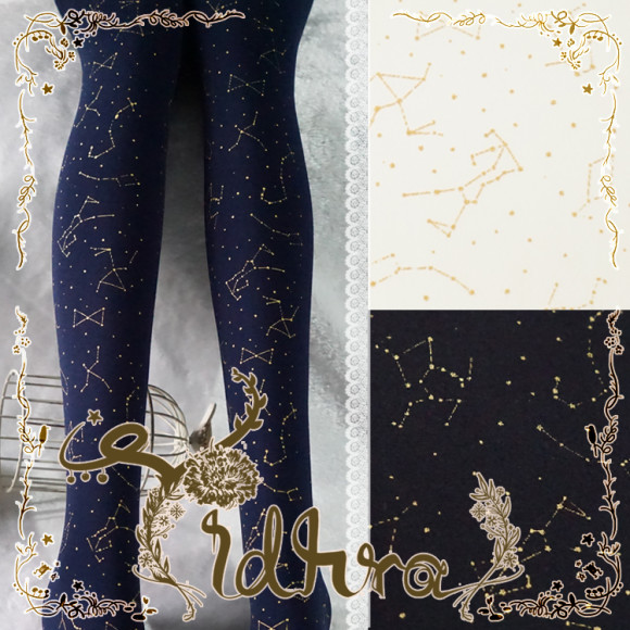 Romantic Fancy Printed Tights for Lolita or Other Elegant Coords (1)
