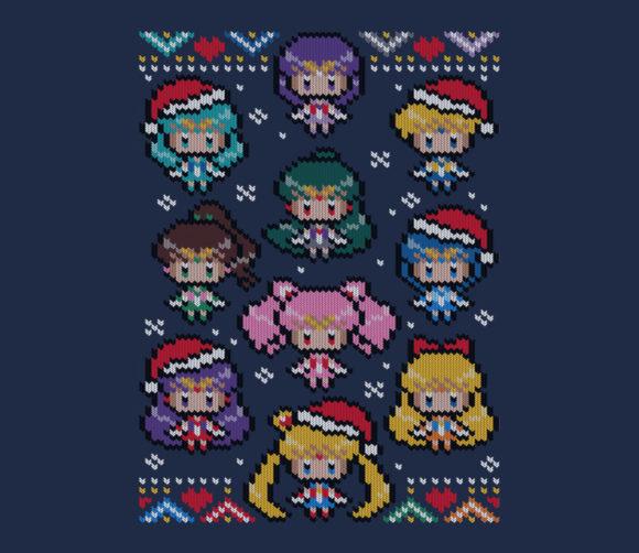 Sailor Moon Christmas Sweater.Teefury Bonbonbunny